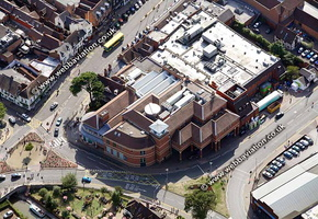 Royal Shakespeare Theatre Stratford-upon-Avon Warwickshire aerial photograph