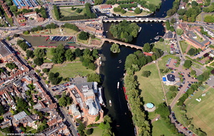 the River Avon at  Stratford-upon-Avon  from the air