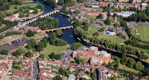 Stratford-upon-Avon from the air