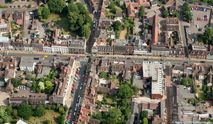High Street Warwick from the air