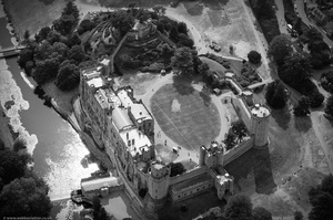 Warwick Castle  from the air