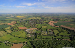 Welford-on-Avon Warwickshire  from the air
