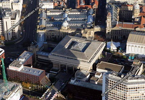 Birmingham Central Library Birmingham West Midlands aerial photograph