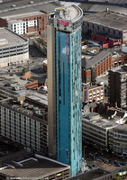 Beetham Tower Birmingham  from the air