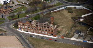 derelict Belmont Row Works, Birmingham  from the air
