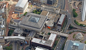 Birmingham Central Library from the air