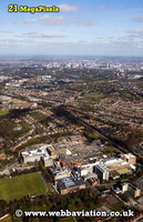 Bournville  Birmingham West Midlands aerial photograph