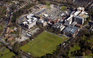 Cadburys Factory Bournville Green Birmingham from the air
