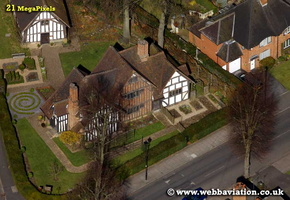 Selly Manor Bournville  Birmingham West Midlands aerial photograph