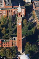 Chamberlain Clock Birmingham University Edgbaston  Birmingham West Midlands aerial photograph