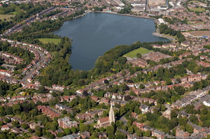 Edgbaston Birmingham from the air