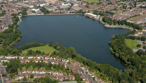 Edgbaston Reservoir Birmingham from the air