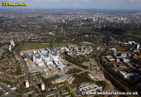 Edgbaston  Birmingham West Midlands aerial photograph