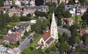 St Augustine's Church, Edgbaston Birmingham from the air