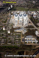 Queen Elizebeth Hospital  Edgbaston  Birmingham West Midlands aerial photograph