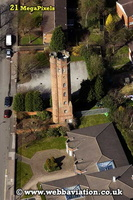Perrott's Folly / Tower Birmingham University Edgbaston  Birmingham West Midlands aerial photograph