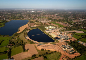 Frankley Water Treatment Works  from the air