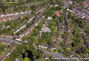Harborne  Birmingham West Midlands aerial photograph