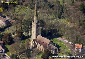 Saint Nicolas' Church,  Kings Norton  Birmingham West Midlands aerial photograph