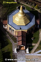 Peace Pagoda in Ladywood  Birmingham West Midlands aerial photograph