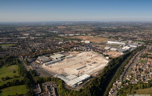 former Austin Rover / British Leyland works Longbridge  from the air