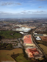 MG Rover / British Leyland car factory site in Longbridge Birmingham West Midlands aerial photograph