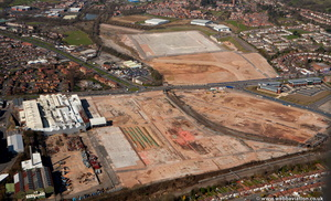 the Longbridge town centre site before construction begin from the air