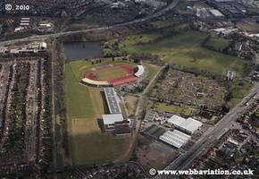 Perry Park Perry Bar  Birmingham West Midlands aerial photograph
