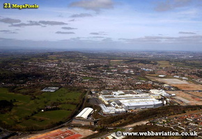Rubery Birmingham West Midlands aerial photograph
