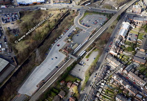 Selly Oak station  Birmingham West Midlands aerial photograph