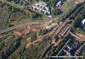 Dudley Canal Line Selly Oak Birmingham West Midlands aerial photograph