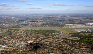 Sheldon, West Midlands from the air