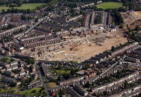 Cape Hill Brewery site Smethwick  Birmingham West Midlands aerial photograph