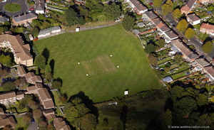 Stirchley Cricket Ground    from the air