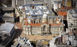 the Council House Birmingham aerial photograph