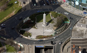 Holloway Circus roundabout Birmingham from the air