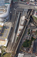 Birmingham Moor Street station from the air