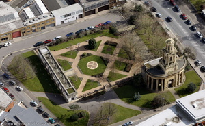 St Thomas' Peace Garden  from the air