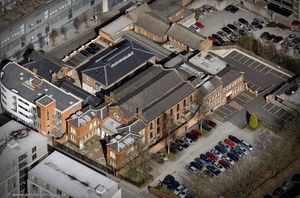 Singers Hill Synagogue Birmingham  from the air