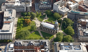 St Philip's Cathedral Birmingham  from the air