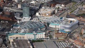 The Bullring shopping centre Birmingham from the air