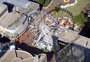 Big Wheel  Birmingham West Midlands aerial photograph