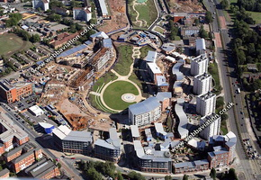 Park Central Birmingham West Midlands aerial photograph