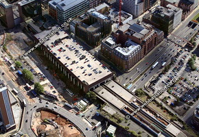 Snow Hill station  Birmingham West Midlands aerial photograph