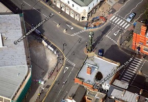 Chaimberlain Clock Birmingham West Midlands aerial photograph
