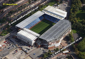 Villa Park football stadium aerial photograph