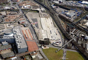 Curzon Street Station site  Birmingham West Midlands aerial photograph