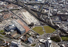 Eastside Birmingham West Midlands aerial photograph