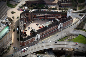 central fire station Birmingham West Midlands aerial photograph