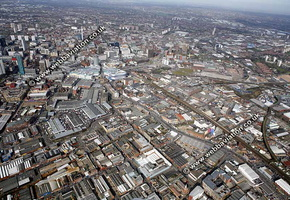 Birmingham  Irish Quarter  Birmingham West Midlands aerial photograph
